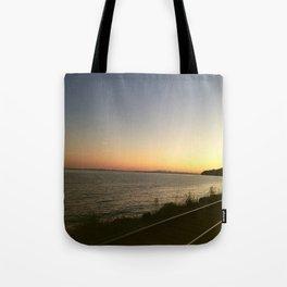 Oceanview Sunset Tote Bag