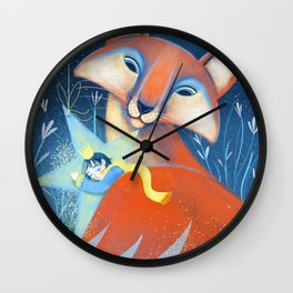 the prince&the fox Wall Clock