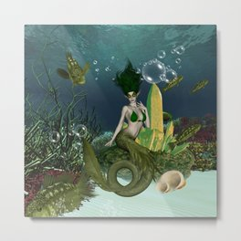 Wonderful mermaid Metal Print