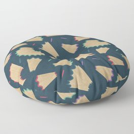 Sharpened colored pencils Floor Pillow