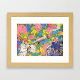 Holy Smokes Framed Art Print