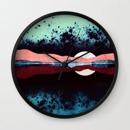 Night Sky Reflection Wall Clock