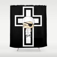 berserk Shower Curtains featuring Farfarello by artwaste