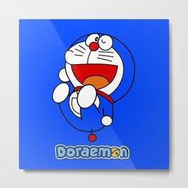 Doraemon cute smile 4 Metal Print