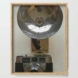 Kodak Vintage Camera Poster Print Serving Tray