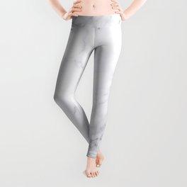 Luxury White Marble Leggings