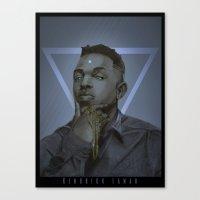 kendrick lamar Canvas Prints featuring Kendrick Lamar by Joey Ro