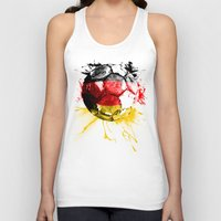 germany Tank Tops featuring  football germany by seb mcnulty