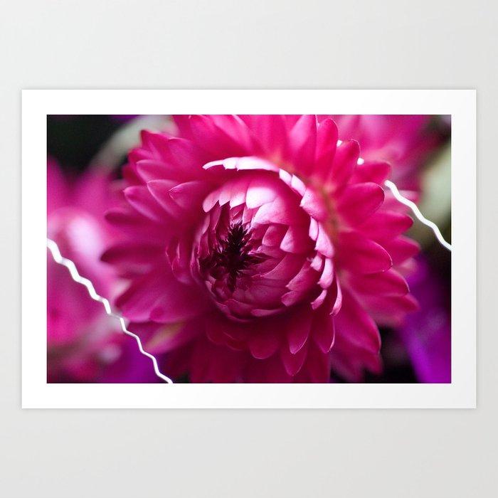 Hot Pink Flower #1 #art #society6 Art Print