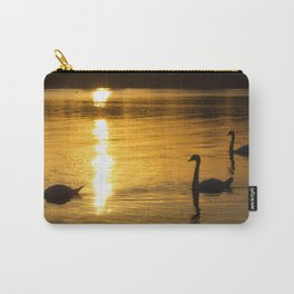 Swans at sunset. Carry-All Pouch