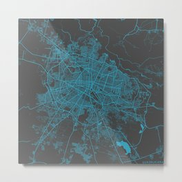 Guadalajara map blue Metal Print