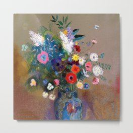 Bouquet of Flowers - Odilon Redon  Metal Print