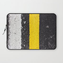Asphalt with yellow & white lines Laptop Sleeve