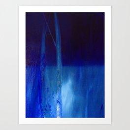 water landscape, nocturnal Art Print