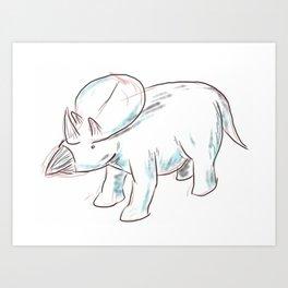 Dinosaurs 3 - Brachyceratops Art Print