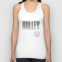 volleyball Tank Tops featuring Volleyball by raineon