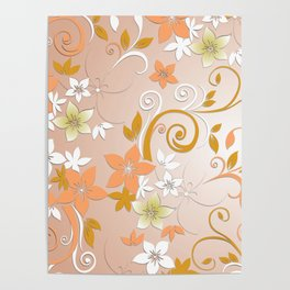 Flowers wall paper 8 Poster