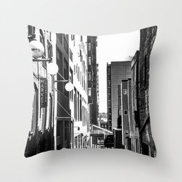 Pike Place (B+W) Throw Pillow