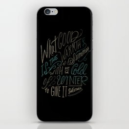 WINTER - Steinbeck Quote iPhone Skin