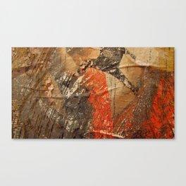 Stratified Wall Ephemera  Canvas Print