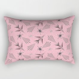 Space Planes & Shooting Stars - Pink Rectangular Pillow