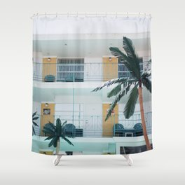 Retro Motel in Wildwood, New Jersey Shower Curtain