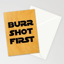 Burr Shot First Stationery Cards