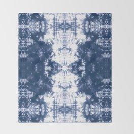 Shibori 6 Indigo Blue Throw Blanket