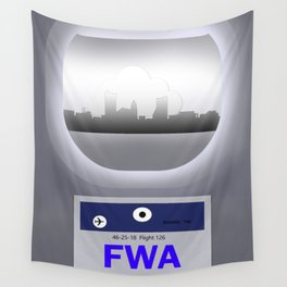 Fort Wayne - FWA - Airport Code and Skyline Wall Tapestry