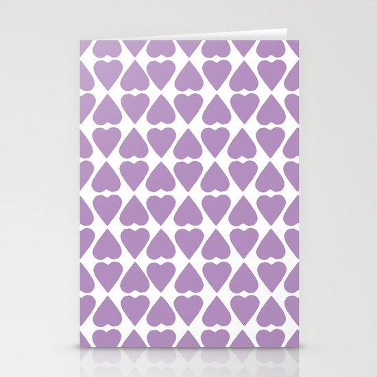 Diamond Hearts Repeat O Stationery Cards