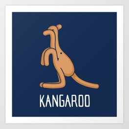 A Kangaroo (That is Definitely not an Octopus) Art Print