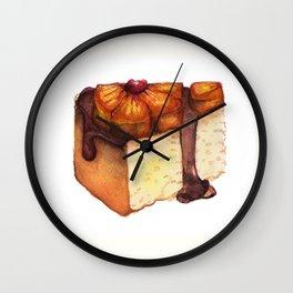 Pineapple Upside-Down Cake Slice Wall Clock