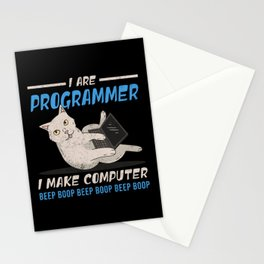 I Are Programmer I Make Computer Beep Boop Gift Stationery Cards