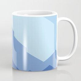 Geometric Blue Sunset Coffee Mug