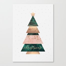 Merry Christmas Tree Canvas Print