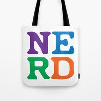 nerd Tote Bags featuring Nerd by Jenna Allensworth