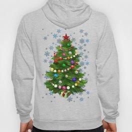 Christmas tree & snow v.2 Hoody
