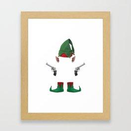 Grazy elf Framed Art Print