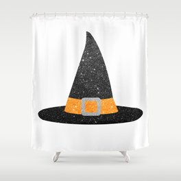 Glitter Witch Hat Shower Curtain