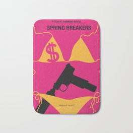 No218 My SPRING BREAKERS minimal movie poster Bath Mat