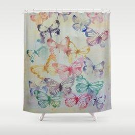 Butterflies II Shower Curtain