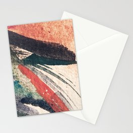 Thunder&Lightning {3}: Minimal watercolor abstract in pinks, blues, and greens Stationery Cards