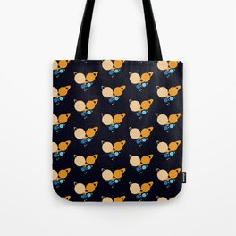 Solar System Heart pattern Tote Bag