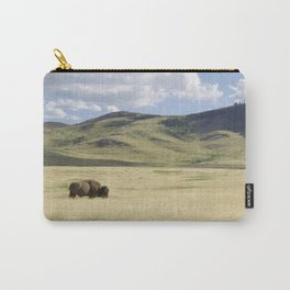 Being Alone is Healthy - Bison on Range Carry-All Pouch
