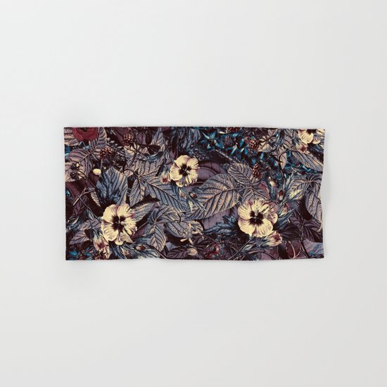 dark flowers Hand & Bath Towel