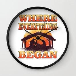 Where Everthing Began Wall Clock