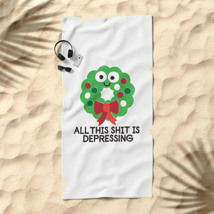 Ho Ho Hopeless Beach Towel