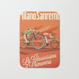 Milan San Remo cycling classic Bath Mat