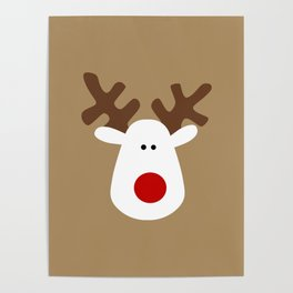 Christmas Reindeer-Brown Poster