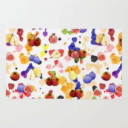 Watercolor Tutti Frutti Rug